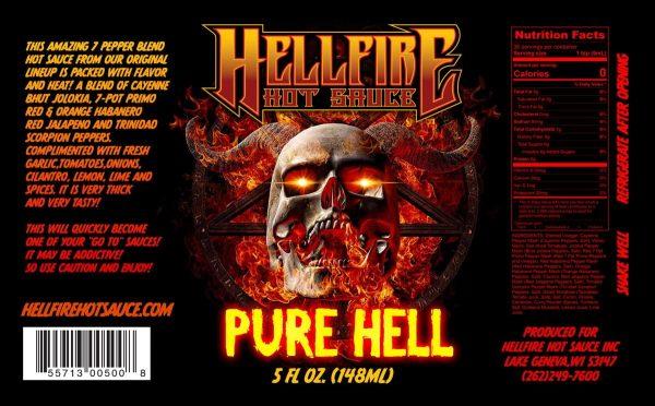 Острый соус Pure Hell Hot Sauce этикетка