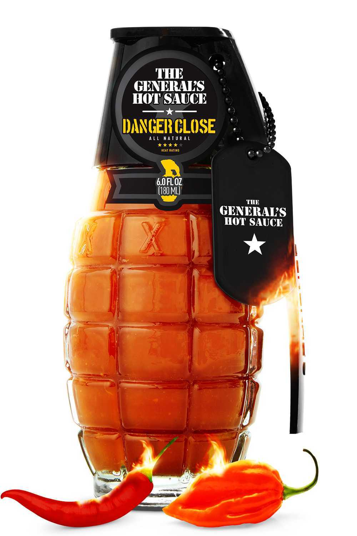 Shock & Awe Hot Sauce, подарочная упаковка виде лимонки