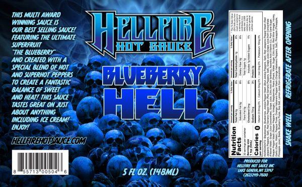 Острый соус Hellfire Blueberry Hell Hot Sauce этикетка