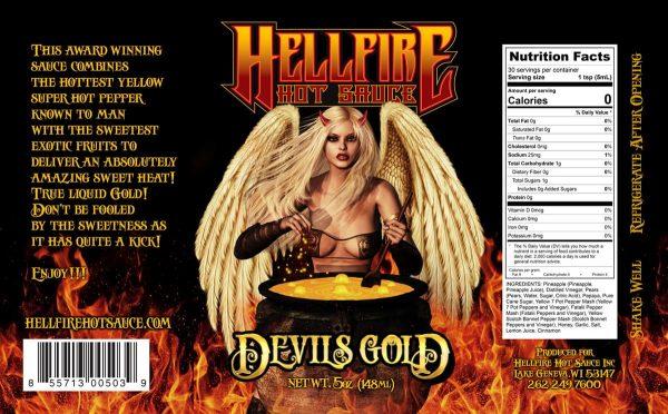 Острый соус Devil's Gold Этикетка
