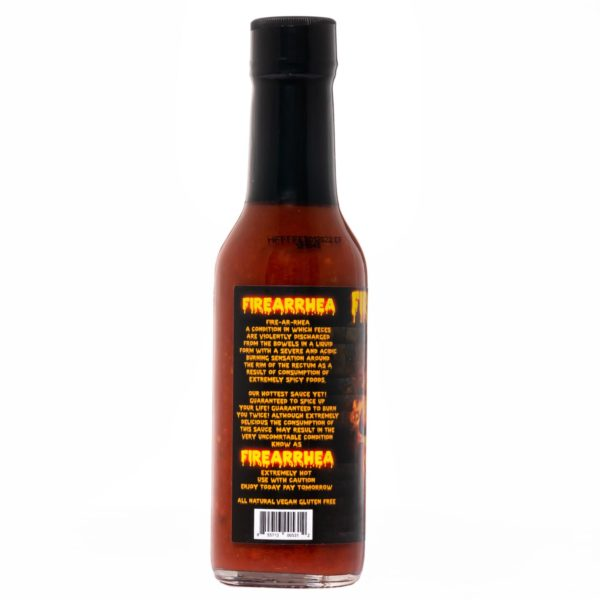 Острый соус Hellfire Firearrhea Hot Sauce слева