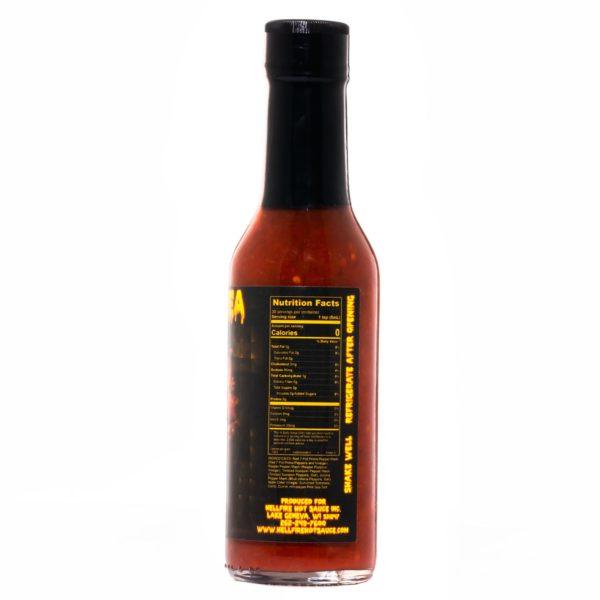 Острый соус Hellfire Firearrhea Hot Sauce справа