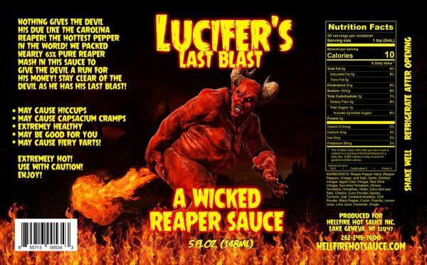 Острый соус Hellfire Satan's Last Blast этикетка