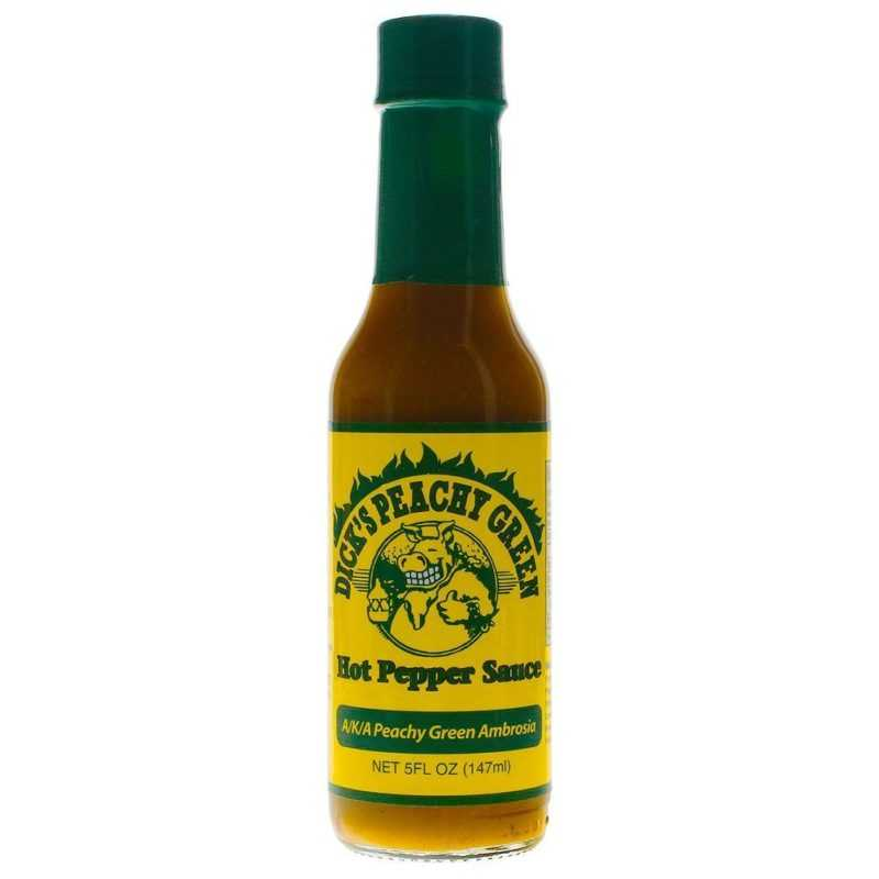 Dirty Dick's Peachy Green Hot Pepper Sauce