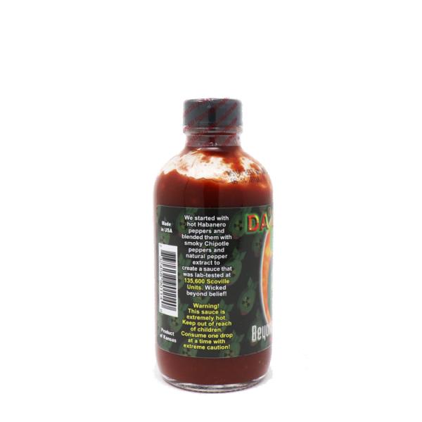 Da' Bomb Beyond Insanity Hot Sauce этикетка