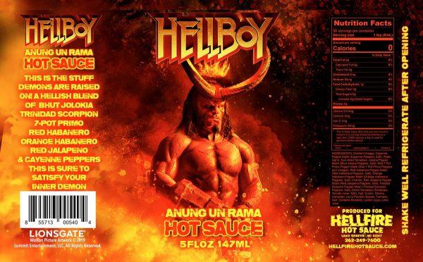 Острый соус Hellfire Anung Un Rama Hot Sauce Этикетка