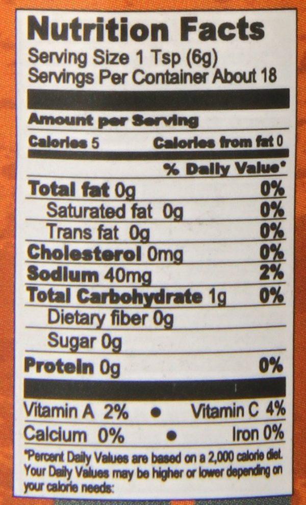 Острый соус Zombie Repellent Apocalyptic Hot Sauce энергетическая ценность