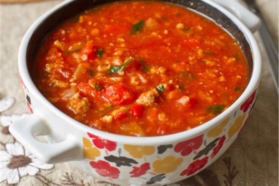 Томатный суп с перцем Тринидад Моруга Скорпион