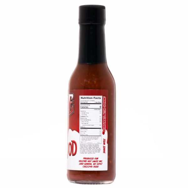 Острый соус Hellfire First Blood Hot Sauce справа