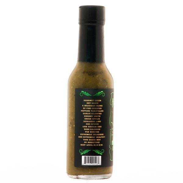 Hellfire Gourmet GREEN Hot Sauce слева