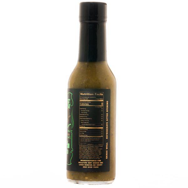Hellfire Gourmet GREEN Hot Sauce справа