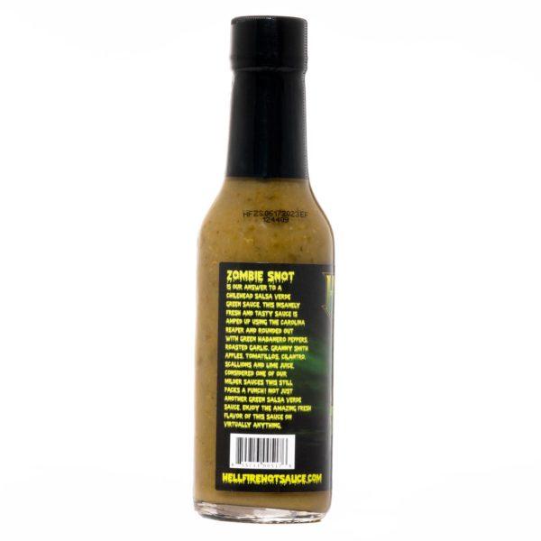 Острый соус Hellfire Zombie Snot Hot Sauce слева