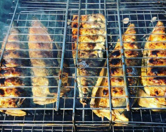 Рыба гриль с перцем Серрано